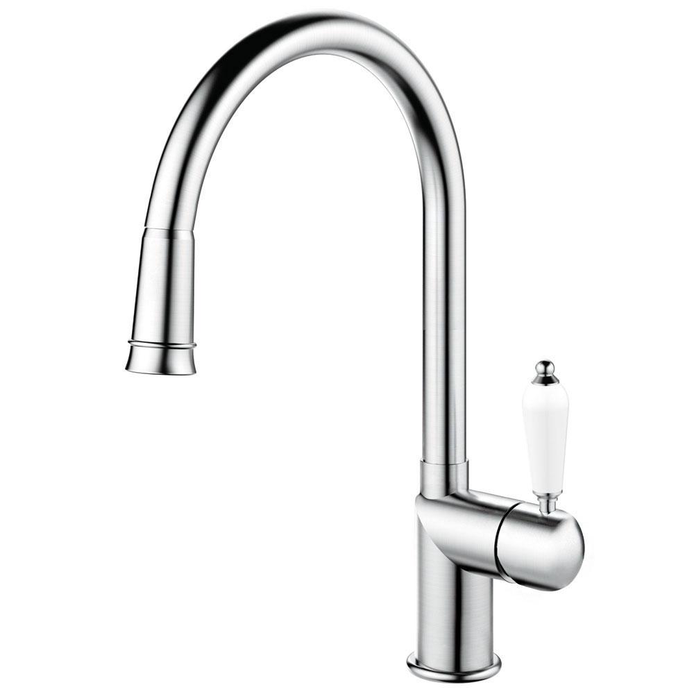 Edelstahl Küche Wasserhahn Ausziehbarer Schlauch - Nivito CL-200