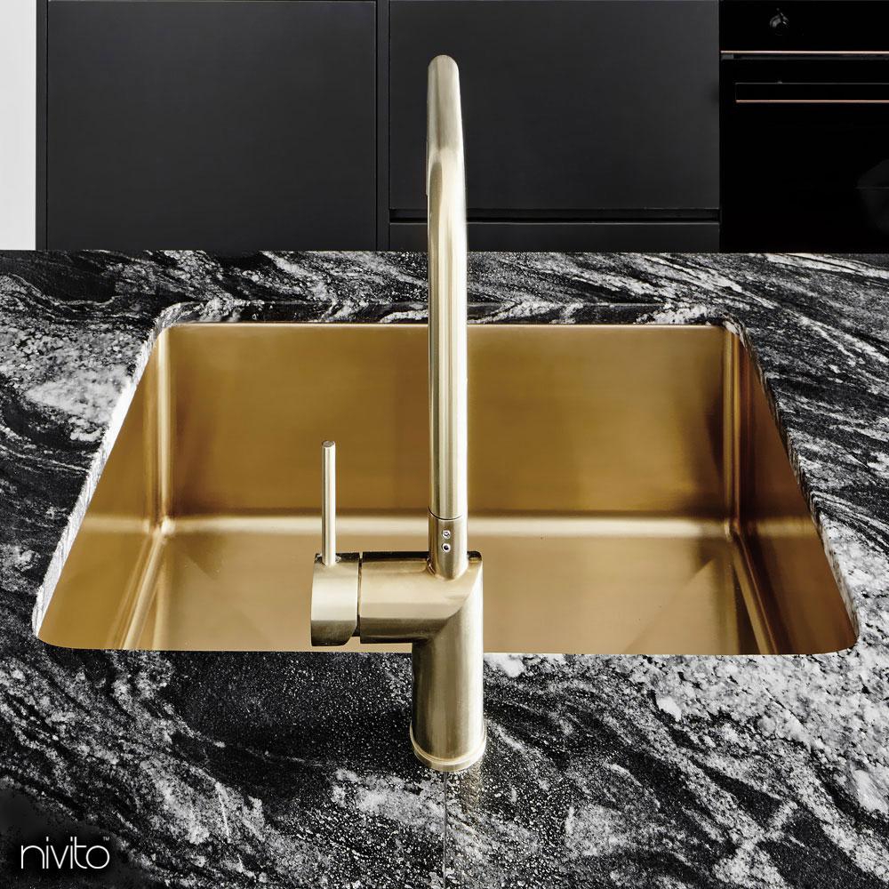 Gold messing kuche waschbecken