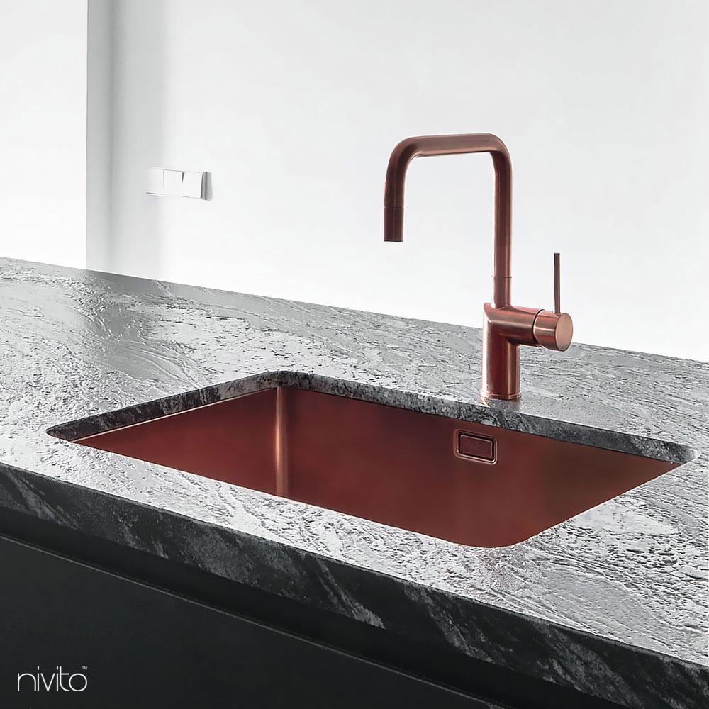 Kupfer kuche waschbecken