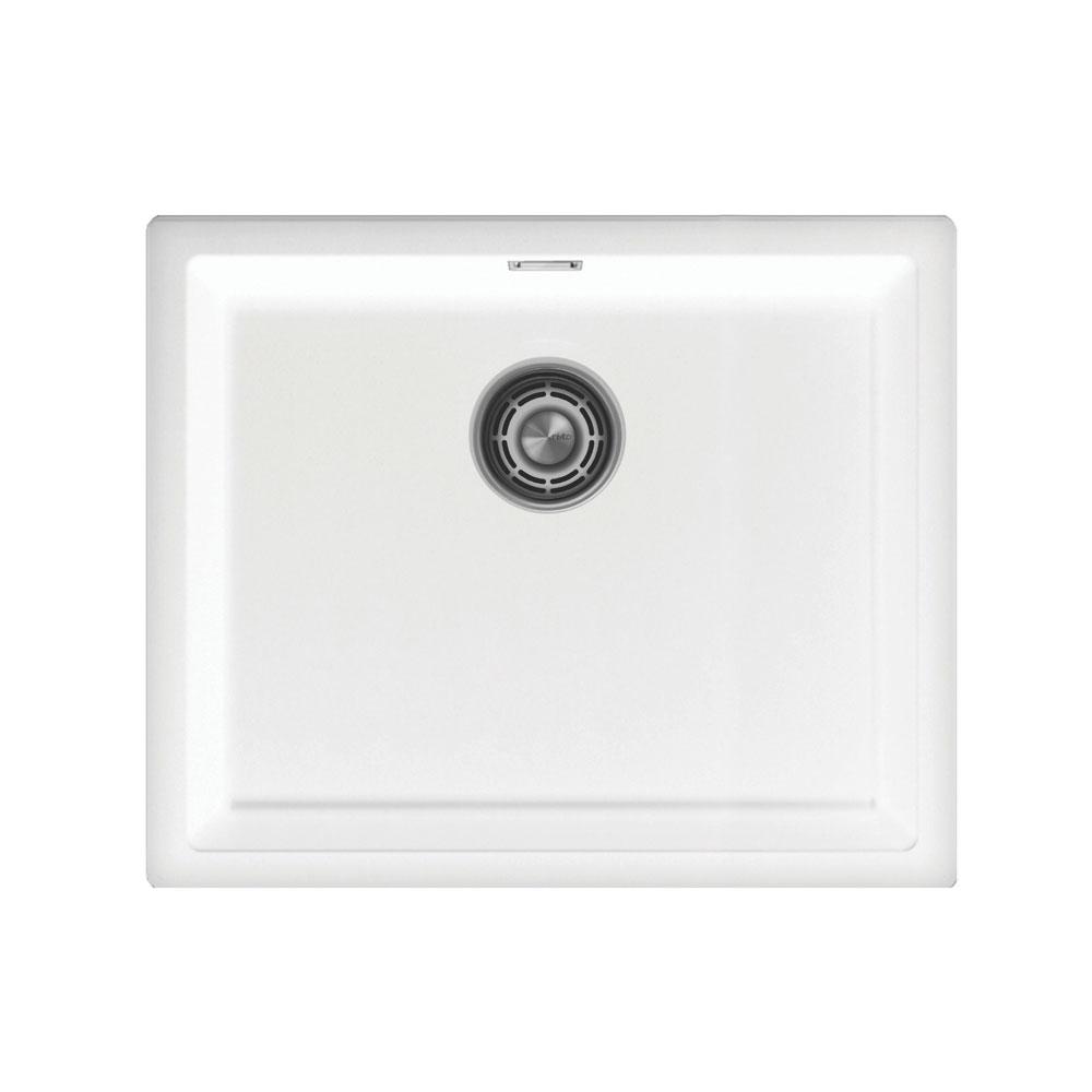 Weiß Küchenbecken/Küchenspülen - Nivito CU-500-GR-WH Brushed Steel Strainer ∕ Waste Kit Color