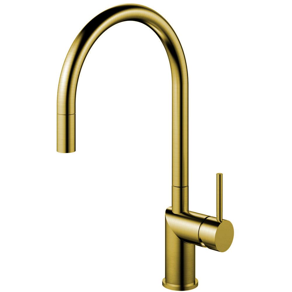 Messing/Gold Küche Waschbecken Wasserhahn Ausziehbarer Schlauch - Nivito RH-140-EX