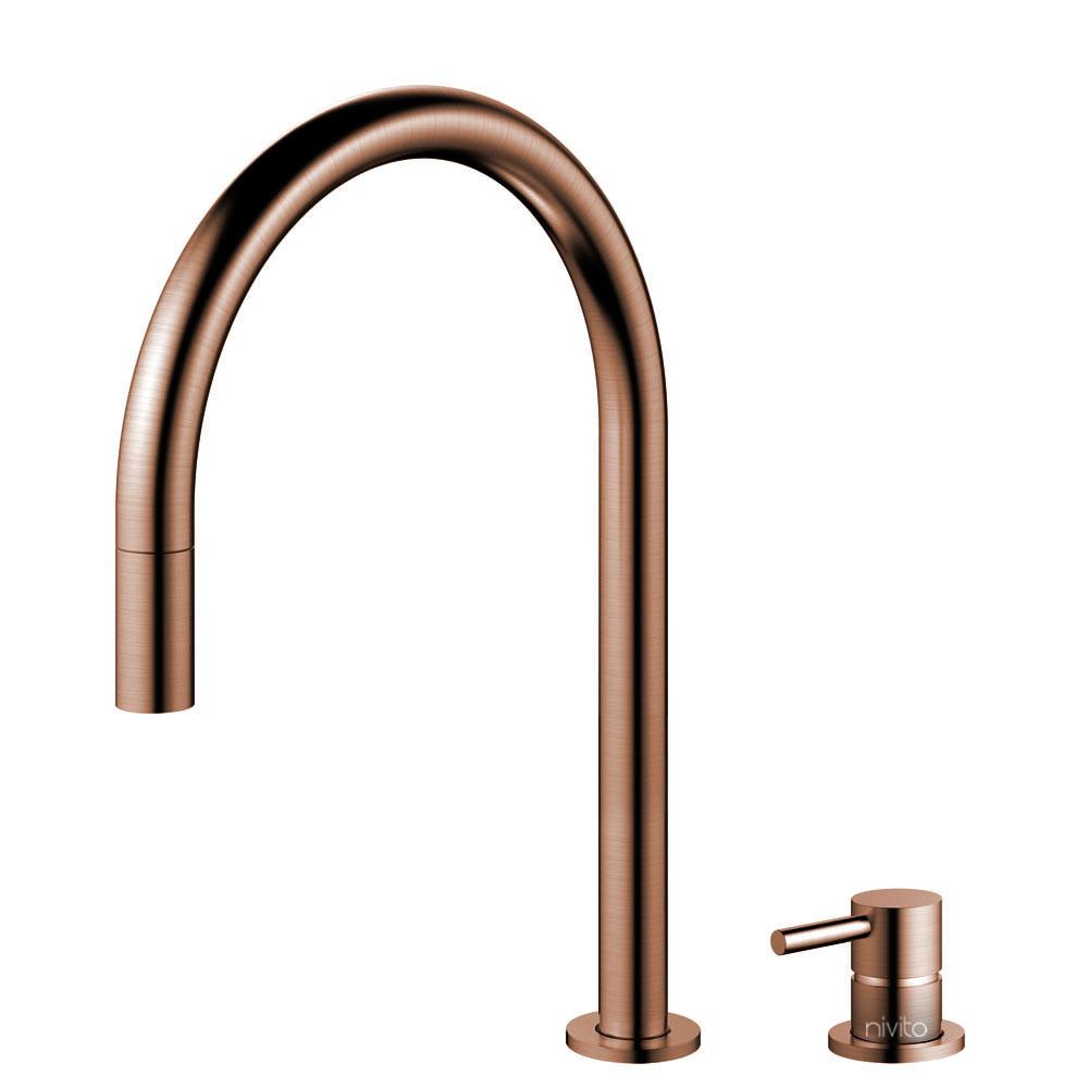 Kupfer Küche Wasserhahn Ausziehbarer Schlauch / Getrenntes Körper/Rohr - Nivito RH-150-VI