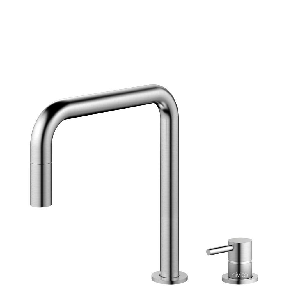 Edelstahl Küche Wasserhahn Ausziehbarer Schlauch / Getrenntes Körper/Rohr - Nivito RH-300-VI