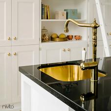 Messing/Gold Küchenarmatur - Nivito 1-CL-160