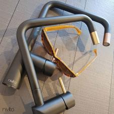 Kupfer Küchenarmatur Schwarz/Kupfer - Nivito 1-RH-350-BISTRO