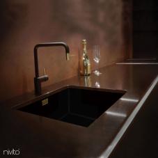 Messing/Gold Küchenarmatur Schwarz/Gold/Messing - Nivito 2-RH-340-BISTRO