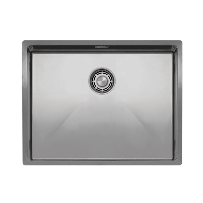 Edelstahl Küche Waschbecken - Nivito CU-550-B Brushed Steel Strainer ∕ Waste Kit Color