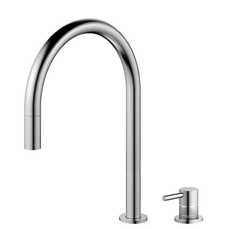 Edelstahl Küchenarmatur Ausziehbarer Schlauch / Getrenntes Körper/Rohr - Nivito RH-100-VI