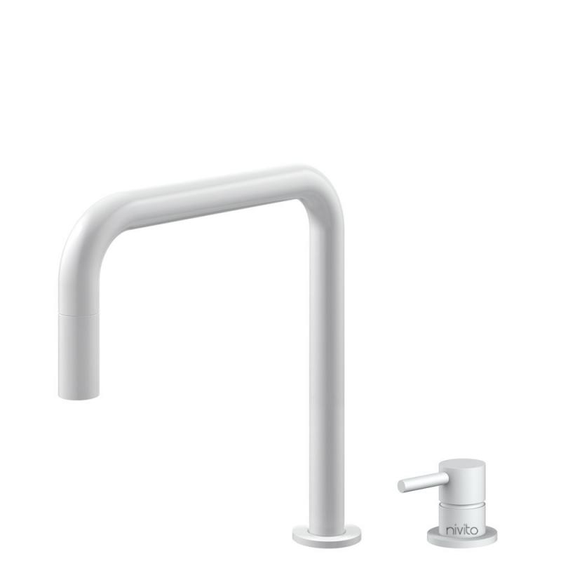Weiß Küchenarmatur Ausziehbarer Schlauch / Getrenntes Körper/Rohr - Nivito RH-330-VI