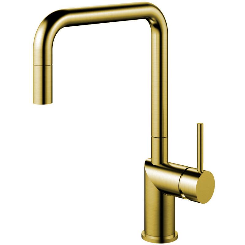 Messing/Gold Küchenarmatur Ausziehbarer Schlauch - Nivito RH-340-EX