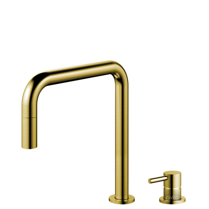 Messing/Gold Küchenarmatur Ausziehbarer Schlauch / Getrenntes Körper/Rohr - Nivito RH-340-VI