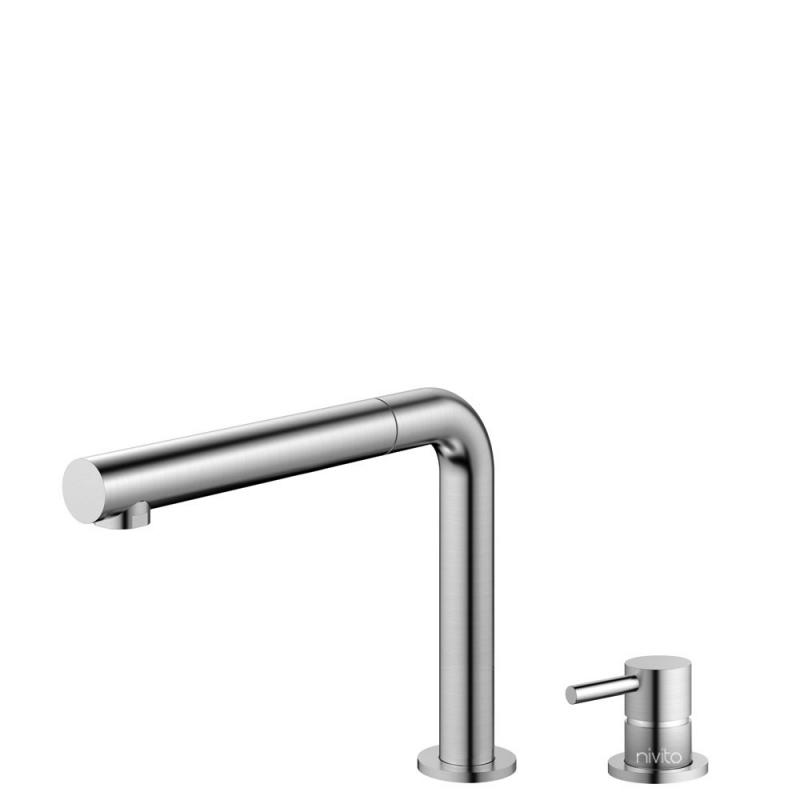 Edelstahl Küchenarmatur Ausziehbarer Schlauch / Getrenntes Körper/Rohr - Nivito RH-600-VI