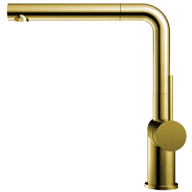 Messing/Gold Küchenarmatur Ausziehbarer Schlauch - Nivito RH-640-EX