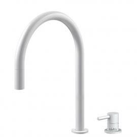 Weiß Küche Wasserhahn Ausziehbarer Schlauch / Getrenntes Körper/Rohr - Nivito RH-130-VI