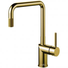 Messing/Gold Küchenarmatur Ausziehbarer Schlauch - Nivito RH-340-EX-IN