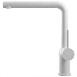 Weiß Küche Wasserhahn Ausziehbarer Schlauch - Nivito RH-630-EX