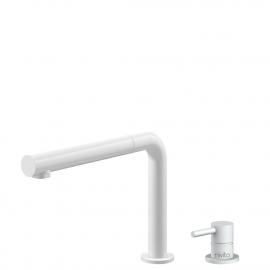Weiß Küche Wasserhahn Ausziehbarer Schlauch / Getrenntes Körper/Rohr - Nivito RH-630-VI