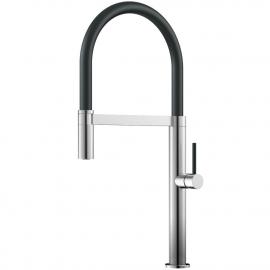 Edelstahl Küche Wasserhahn Ausziehbarer Schlauch / Gebürstet/Schwarz - Nivito SH-200